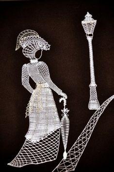 Paličkovaná krajka - Certifikované produkty - ARZ - Regionální značky Scroll Saw Patterns, Lace Patterns, Embroidery Patterns, Fabric Stiffener, Lace Heart, Lace Jewelry, Lace Making, Bobbin Lace, String Art