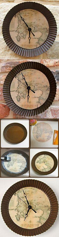 Настенные часы «Antique Map»