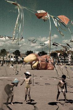 The sun, the beach, the kites in the sky... Living Valencia