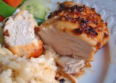 Baked Garlic Brown Sugar Glazed Chicken