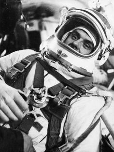 Vladimir Komarov. The first cosmonaut to go into space more than once, and the first to die in the attempt to conquer outer space, when Soyuz 1 crashed on re-entry, 24th April 1967.