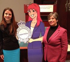 Nancy with Dr. Shaheen Shariff, who gave a Youth Movement presentation on Cyber-Bullying.