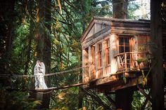TreeHouse Point.  SO COOL.  WE NEED TO GET MARRIED HERE.  IT'S ALL TREEHOUSES!!!