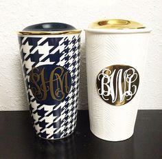 Monogrammed Starbucks Traveler Mugs