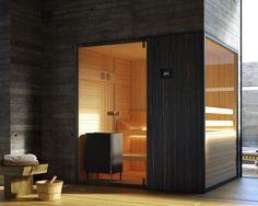 Loyly Sauna: Hot Room with a View - Garden & Patio Bad Inspiration, Bathroom Inspiration, Modern Saunas, Modern Garden Furniture, Sauna Design, Finnish Sauna, Sauna Room, Sauna House, Beige Pillows