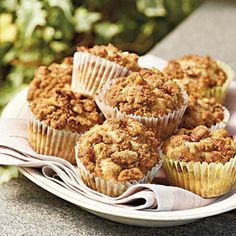 Peach-Pecan Muffins Recipe (Southern Living) These are so good we even served them up with vanilla ice cream and a drizzle of caramel.