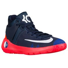 new product 3c523 cd987 Kevin Durant Shoes, Foot Locker, Navy And White, Kid Shoes, Basketball,