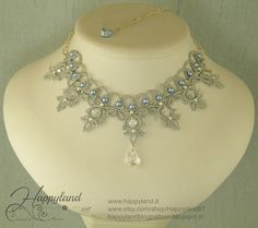 """""""Comete"""" Needle tatting necklace Pattern available"""