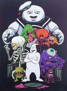 Ghostbusters Ghouls and Monsters Ghostbusters Party, The Real Ghostbusters, Ghostbusters Poster, Cartoon Kunst, Cartoon Art, Gremlins, Horror Art, Horror Movies, Die Geisterjäger