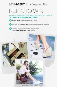 Enter now for a chance to win! www.myhabitfix.com/repintowin