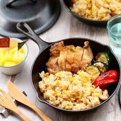 ホットプレートde簡単♡ごちそうパエリア by のりP (noripetit) | 【Nadia | ナディア】レシピサイト - おいしいあの人のレシピ Curry, Appetizers, Ethnic Recipes, Food, Food Trays, Snacks, Appetizer, Kalay, Curries