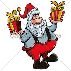 Cartoon Santa With A White Beard.Isolated On White Christmas Cartoon Pictures, Christmas Cartoons, Santa Beard, Cartoon Pics, Bowser, Fictional Characters, Fantasy Characters