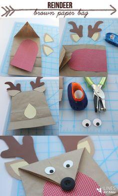 reindeer brown box paper