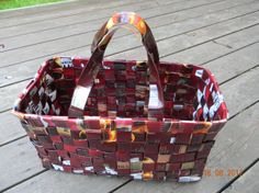 DSCN2849[1] Paper Weaving, Recycled Crafts, Upcycle, Recycling, Crafty, Diy, Coffee Bags, Sachets, Chips