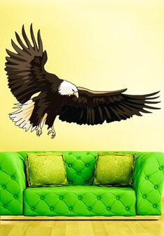 Bald Eagle Bird Animals Prey  Full Color Wall Decal by uBerDecals