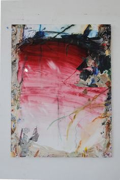 """Mike Olin Archives - """"Wu Island"""" oil and mixed media on linen, 36"""" x 27"""", 2012"""