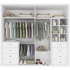 "This is what our ""his and hers"" closet needs for organization. Exact closets, just no dresser inside"