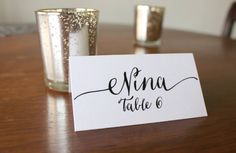 Printable Calligraphy Place Cards by EloquentPaper on Etsy, $20.00