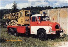 Automobilové jeřáby a vyprošťovací automobily u JPO Monster Trucks, Motorcycles, Vehicles, Vintage Cars, Autos, Gypsy, Crane Car, Automobile, Rolling Stock