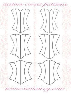 custom corset pattern shapes specifically for larger busts!custom corset pattern shapes specifically for larger busts! Barbie Clothes Patterns, Doll Dress Patterns, Sewing Clothes, Clothing Patterns, Sewing Patterns, Corset Sewing Pattern, Bra Pattern, Diy Corset, Sewing Crafts