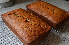 Mrs. Field's Banana Nut Bread (This takes 7 bananas = 2 loaves. One for now and one to freeze but it's so delicious that you'll eat it up quicker than that! Even straight out of the oven with butter...Mmmmm)