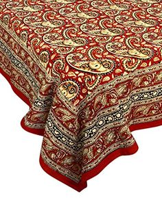 Genial Red Tablecloth Square 54 X 54 Inches 100% Cotton Floral India | Home  Decorating Ideas | Indian Home Decor | Pinterest | Red Tablecloth