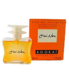 Parfum Oui-Non de la marque de prêt à porter Kookaï,  très en vogue dans les années 90.
