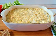 Artichoke and Jalapeno Ranch Dip - A hot, creamy, cheesy, spicy dip made with artichokes, jalapenos, cream cheese and ranch seasoning.