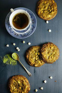 Matcha #GreenTea white chocoalte & macadamia cookies #recipe