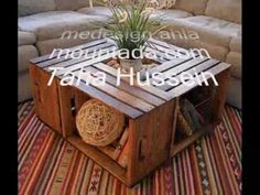 How to Make a Coffee Table from Wine Crates - YouTube