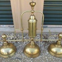 Antique brass billiard light