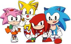 Classic Sonic Tails Knuckles and Amy❤️ SO KAWAII!