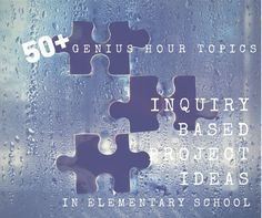 50+ Genius Hour Topics for Elementary School students. You CAN do Genius Hour with elementary school students! In fact, I highly recommend it! If you are stuck and need some ideas to get started, Click Here to check out this post!