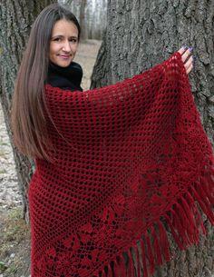 Crochet Hooded Scarf, Crochet Vest Pattern, Knitted Shawls, Crochet Shawl, Crochet Lace, Crochet Patterns, Bijoux Art Deco, Crochet Mobile, Shawl Patterns