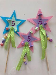 Feenstab / Zauberstab Einladungen für den Kindergeburtstag