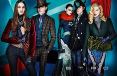 Iselin Steiro, Magda Laguinge & Laura Love Star in Etros Fall 2012 Campaign by Mario Testino