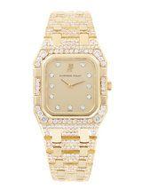 Audemars Piguet Yellow Gold Rectangular De Luxe Watch, 28mm