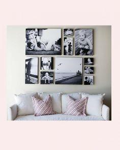 Leuke idee om foto's op te hangen
