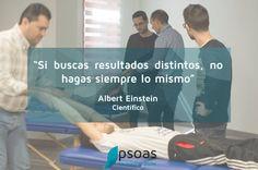 """""""Si buscas resultados distintos, no hagas siempre lo mismo""""  #Fisioterapia #fisioterapeuta #osteopatia"""