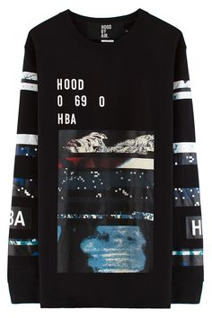 Hood By Air Layered Graphic L/S T-Shirt (Black)