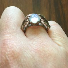 Bloodmilk belonging to the underworld ring Sz 7.5 Gorgeous moonstone bloodmilk ring. Sz 7.5. Bought off another posher but really isn't my style :(. Beautiful ring. Bloodmilk Jewelry Rings