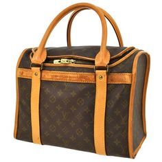 Louis Vuitton Sac Chaussures - Dog Carrier - Cosmetic Brown Travel Bag $525