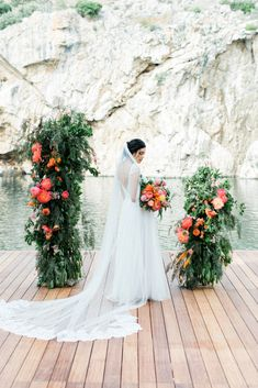 SUMMER CORAL LAKESIDE WEDDING – ELLWED COVER EDITORIAL