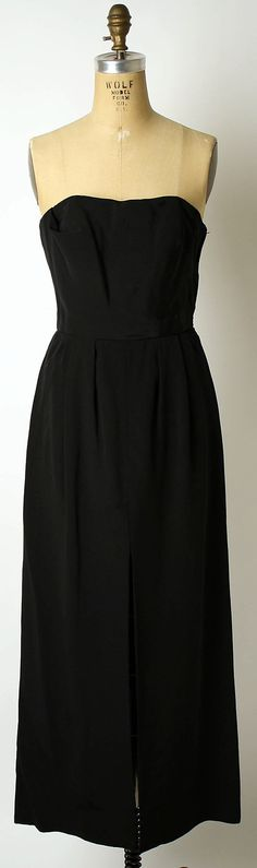 Mainbocher evening dress