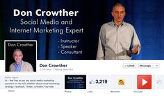 Don Crowther has a clean and simple Timeline Design. He clearly identifies his strengths and ability using bold, easy to digest text.