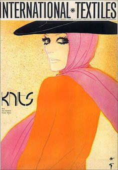 René Gruau, a renowned fashion illustrator (1909-2004)  http://www.renegruau.com