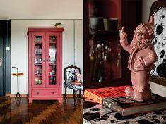 Casinha colorida: Dois apartamentos estilo loft com mix de contemporâneo e vintage