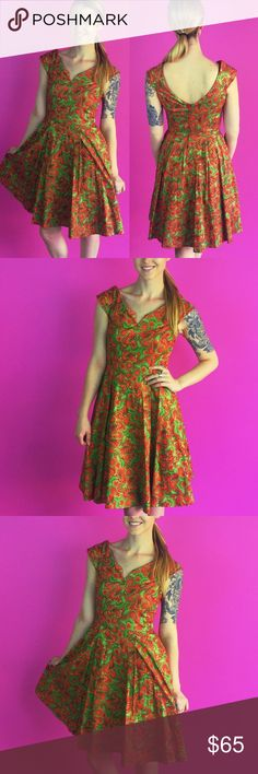 Retro Christmas Holiday Dress Elegant Green & Red Christmas Holiday Dress by Folter / Retrolicious - Classic PinUp Vintage Rockabilly Style Brand  Size Small Purchased directly from manufacturer.  Dress is Brand New!   Offers Encouraged! Buy two or more items and get 15% off your purchase! 🛍✌️️ Inquire about custom bundles!  10% of sales are donated to Speak Up Bangladesh - Working to combat child marriage 🌏 ModCloth Dresses