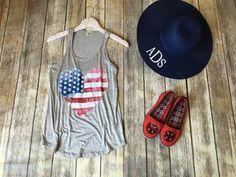 Usa Baby, Graphic Tank, Tank Tops, Women, Fashion, Moda, Halter Tops, Fashion Styles, Fashion Illustrations