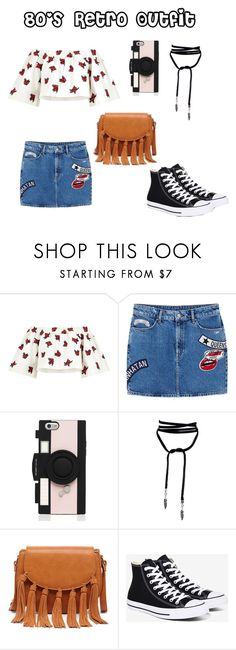 """80's Retro Outfit"" by jadaramseyy on Polyvore featuring House of Holland, MANGO, Kate Spade, Sole Society and Converse"